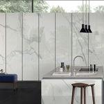 placa de pedra em porcelanato arenito / para piso / para ambiente interno / para fachada