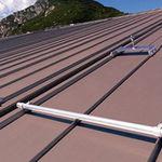 telhado em zinco-titânio / colorido / zipado / nervurado