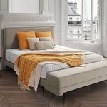 cabeceira para cama de casal / contemporânea / em tecido / em couro