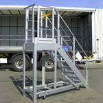 plataforma de trabalho / de exterior / para armazenamento