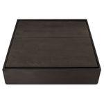 mesa de centro contemporânea / em bétula / em madeira tingida / com pés em bétula