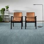 carpete em placas / tufado / tipo bouclê / sintético