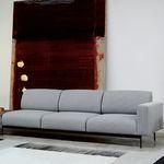 sofá modular / contemporâneo / em tecido / metálico