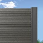 cercado de jardim / de lâminas / em madeira plástica / de elevada segurança