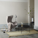 mesa de centro contemporânea / em mármore / com pés em aço termolacados / retangular