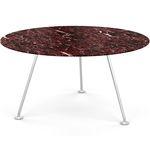 mesa de jantar contemporânea / em vidro temperado / em laminado / em mármore