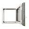 janela de abrir / oscilobatente / em alumínio / com vidro duploKALORY E KAWNEER