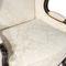 poltrona de estilo Luís XV / em tecido / em couro / em carvalho