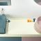 lavatório de coluna / quadrada / em cerâmica / contemporânea