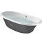 banheira com pés / oval / em ferro fundido