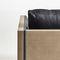 poltrona contemporânea / em tecido / em couro / de Jean-Marie Massaud