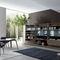 móvel de parede para TV contemporâneo / em madeira / em alumínio / de Mauro Lipparini