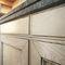 cozinha clássica / em freixo / em madeira maciça / lacada