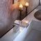 misturador bicomando para lavatório / de pousar / em metal cromado / para banheiro