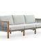 sofá contemporâneo / de jardim / em teca / em poliéster