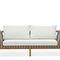 sofá contemporâneo / em tecido / em teca / de Rodolfo Dordoni