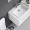 gabinete de banheiro suspenso / em Corian® / em alumínio / em inox