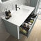 gabinete de banheiro duplo / suspenso / em melamina / de polímero
