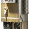 móvel de entrada contemporâneo / em madeira / com compartimento de arrumação / sob medida