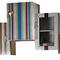 estante de parede / modular / contemporânea / em madeira lacada
