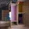 guarda-roupa modular / contemporâneo / em madeira / com portas de abrir