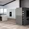 cozinha contemporânea / em madeira / lacada / sem puxadores