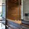 cozinha contemporânea / em inox / em madeira maciça / em madeira