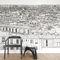 papel de parede contemporâneo / panorâmico / padrão urbano / com cenaPapier peint Vue de Paris Opéra Grand Palais PanoramiqueOhmywall