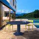 mesa de jantar contemporânea / em aço / hexagonal / da linha comercial