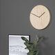 relógio contemporâneo / analógico / de parede / em aço