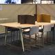 separador de estações de trabalho de mesa / em cortiça natural