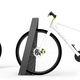 bicicletário em aço / em aço inoxidável / com sistema de segurança / para espaço público
