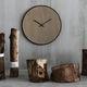 relógio contemporâneo / analógico / de parede / em carvalho