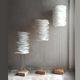 luminária de piso / de design original / metálica / em papel