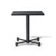mesa contemporânea / em madeira / com base metálica / quadrada