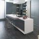 cozinha em Solid Surface / contemporânea / em aglomerado / em alumínio