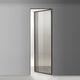 porta interna / de abrir / em vidro / em alumínio