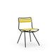 cadeira contemporânea / sob medida / em aço / em poliéster