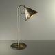 luminária de mesa / clássica / metálica / dourada