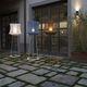 luminária de piso / contemporânea / metálica / de LED