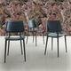cadeira contemporânea / estofada / em couro / metálica