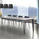 mesa contemporânea / em vidro / em HPL / em melamina