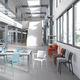 cadeira contemporânea / em polipropileno / em fibra de vidro / contract