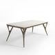 mesa contemporânea / em carvalho / em nogueira / em madeira de freixo