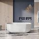 banheira freestanding / oval / em pedra / branca