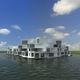 construção pré-fabricada / flutuante / para habitação coletiva / contemporânea
