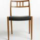 cadeira de design escandinavo / em carvalho / em nogueira / em teca