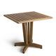 mesa contemporânea / em madeira / quadrada / para estabelecimento público
