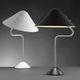 luminária de mesa / contemporânea / em alumínio pintado / em aço inoxidável escovado